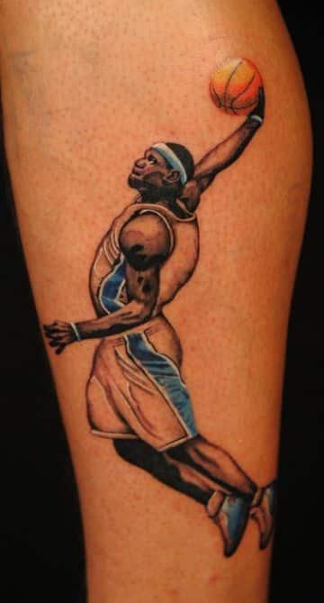 tatuajes de basquet para hombres jugadores