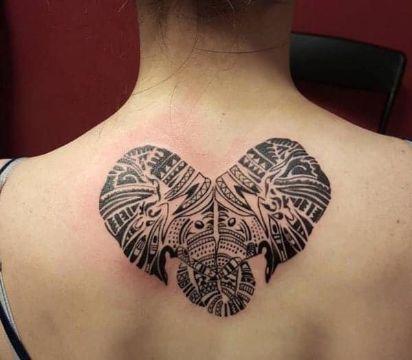 tatuajes de elefantes de la suerte tribal