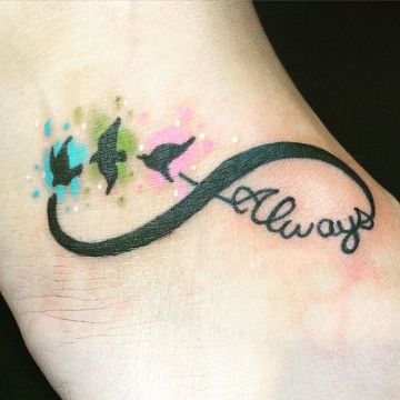 tatuajes de amistad infinita con color