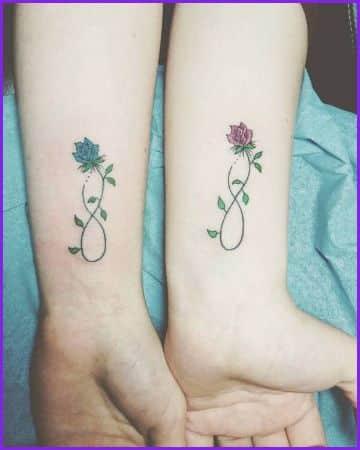 tatuajes de amistad infinita muñecas