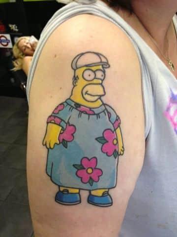tatuajes de homero simpson basados en capitulos