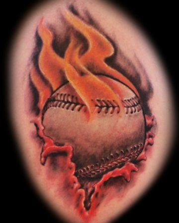 tatuajes de beisbol para parejas fuego