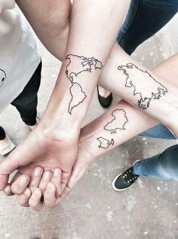 tatuajes para amigas de 3 creativos