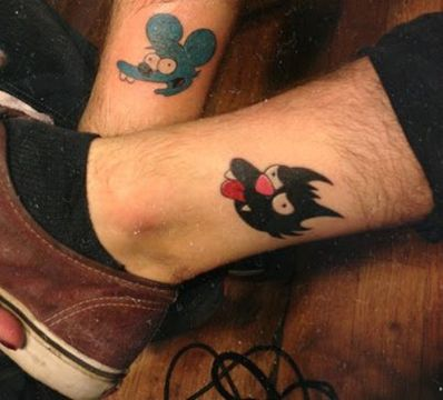 tatuajes para parejas de los simpson itchy scratchy
