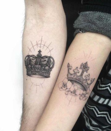 tatuajes de coronas para parejas originales diseños
