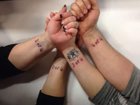 tatuajes de familia de 4 numeros