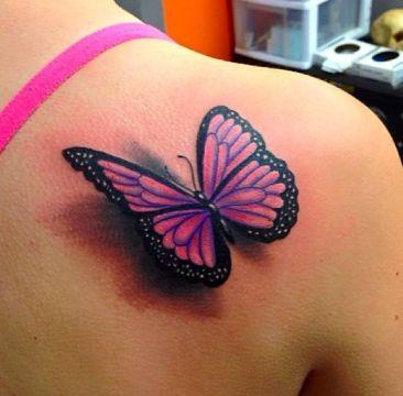 tatuajes de mariposas en 3d sombreados