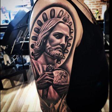tatuajes de san judas tadeo difuminado