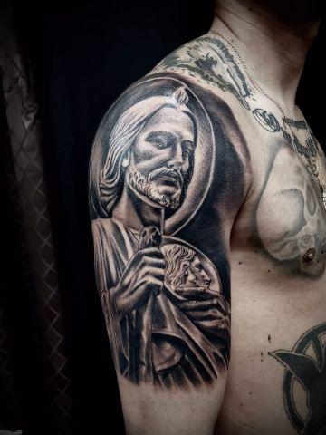 tatuajes de san judas tadeo sombras