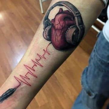 tatuajes de signos vitales originales como complemento
