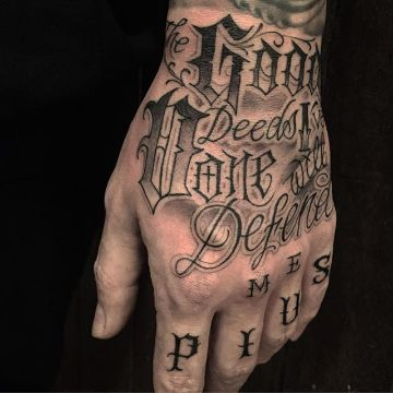 letras chicanas para tatuajes la mano