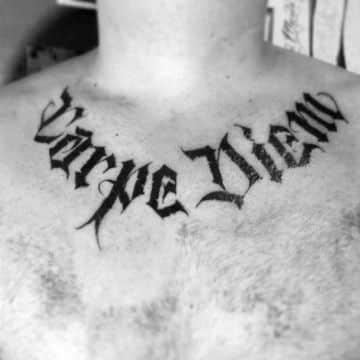 letras goticas para tatuajes para cuello