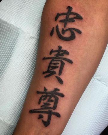 letras japonesas para tatuajes en el brazo