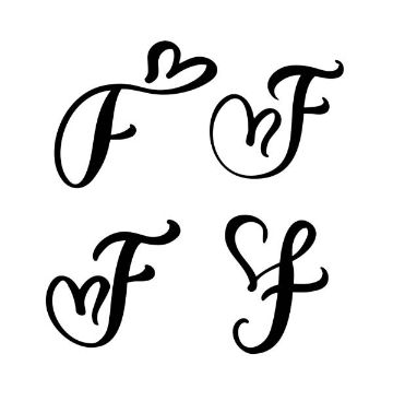 tatuajes con la letra f diseños con corazones