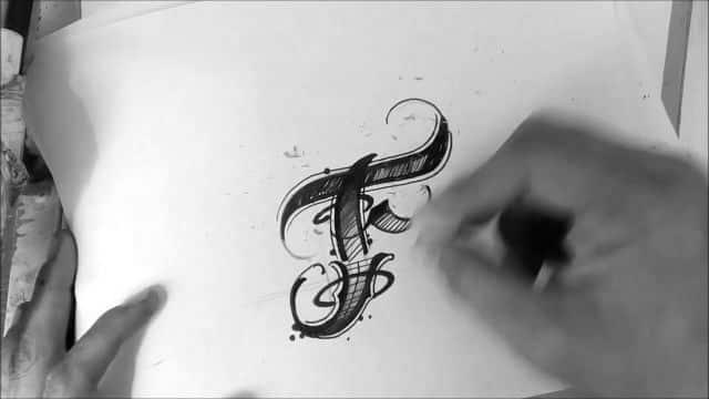 tatuajes con la letra f plantillas