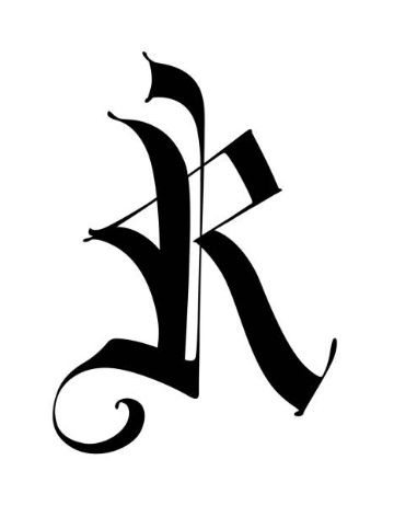 tatuajes con la letra r tipo royalty