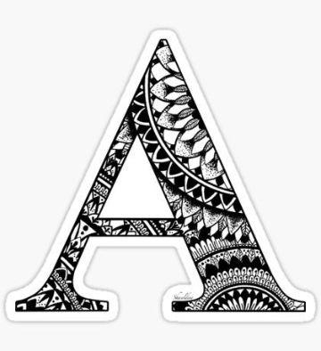 tatuajes de la letra a con rellenos originales