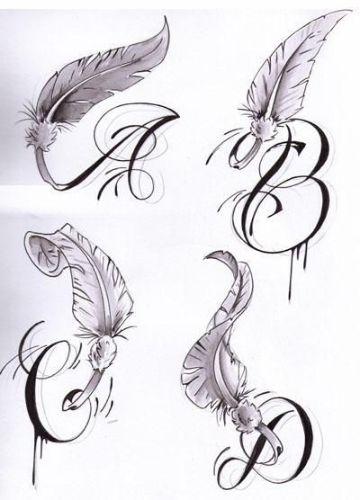 tatuajes de la letra a plantillas con alas