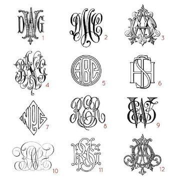 tatuajes de letras entrelazadas plantilla