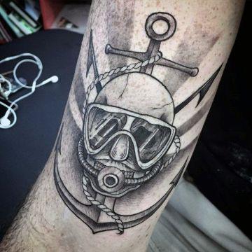 tatuajes de buzos tacticos con anclas