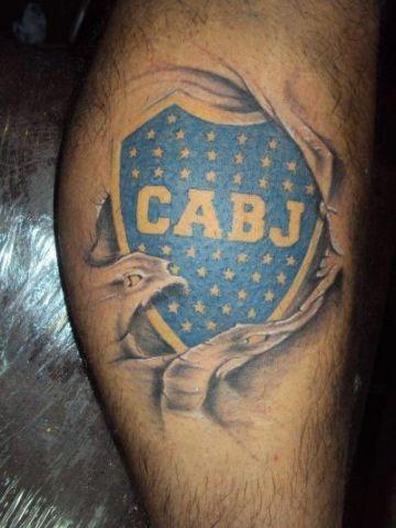 tatuajes de boca juniors escudo