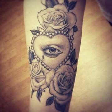 tatuajes de corazones para mujeres ojo de fatima