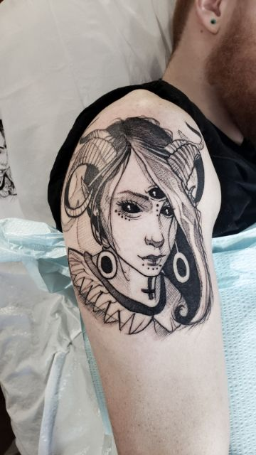 tatuajes de duendes y elfos femeninos