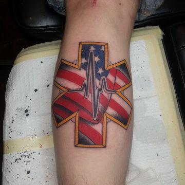 tatuajes de la estrella de la vida patriotismo