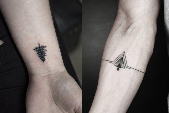 diseños de tatuajes pequeños minimalistas