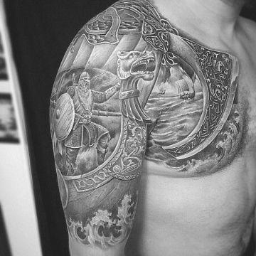 tatuajes de barcos vikingos texturas