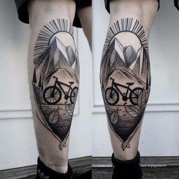 tatuajes de bicicletas de montaña obras geniales