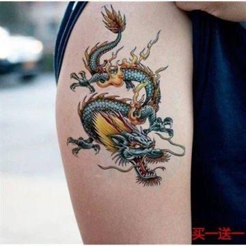 tatuajes de dragones a color tamaño pequeño bien definido
