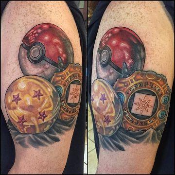 tatuajes de esferas del dragon y de otros animes
