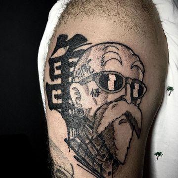 tatuajes del maestro roshi en negros