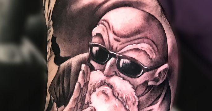 tatuajes del maestro roshi tipo retrato