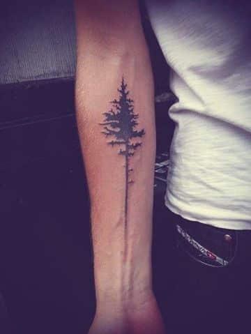 tatuajes para hombres sencillos arbol