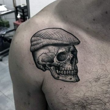 tatuajes para hombres sencillos craneo texturas