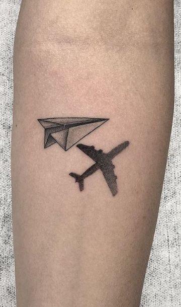 tatuajes pequeños sobre viajar conceptos