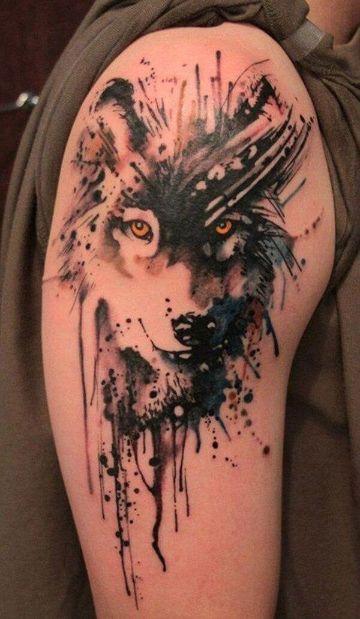 tatuajes de lobos solitarios trash polka