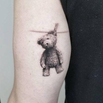 tatuajes de osos de peluche realistas