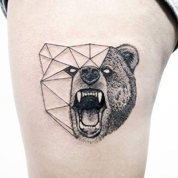 tatuajes de osos pardos conceptual