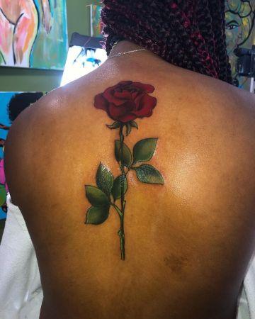 tatuajes en piel negra con color