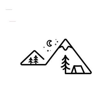 tatuajes para dibujar facil bosques a lineas gruesas