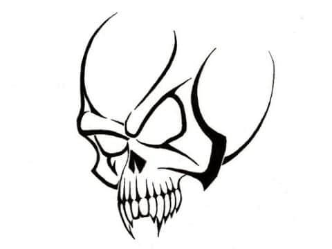 tatuajes para dibujar facil craneo