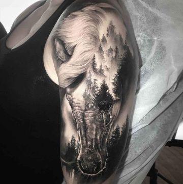 tatuajes de caballos indios asombrosos