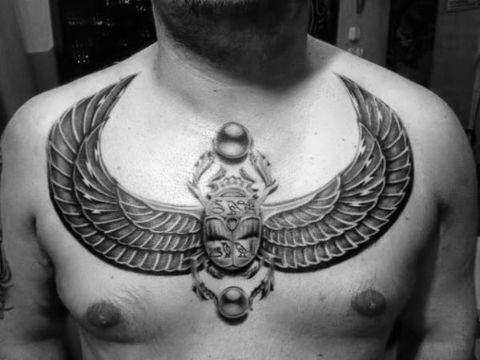 tatuajes de escarabajos para hombres egipcio