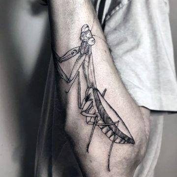 tatuajes de mantis religiosa a negros