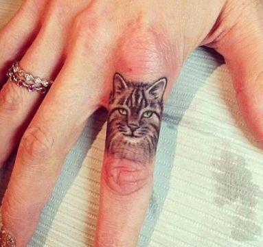 tatuajes de caras de gatos pequeños con alto detalle