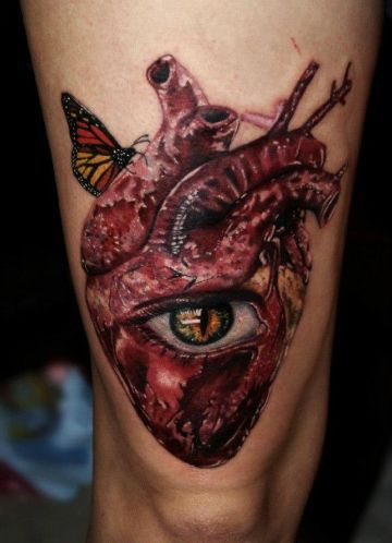 tatuajes de corazon humano conceptos