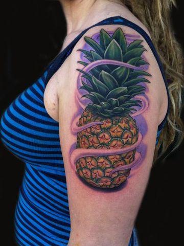 tatuajes de piñas para mujeres nueva escuela